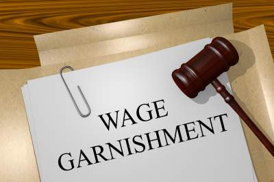 Wage garnishment for child support